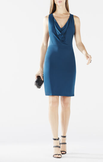 Oriele Cowl-Neck Racerback Dress