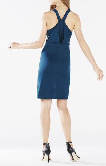 Oriele Cowl-Neck Racerback Dress