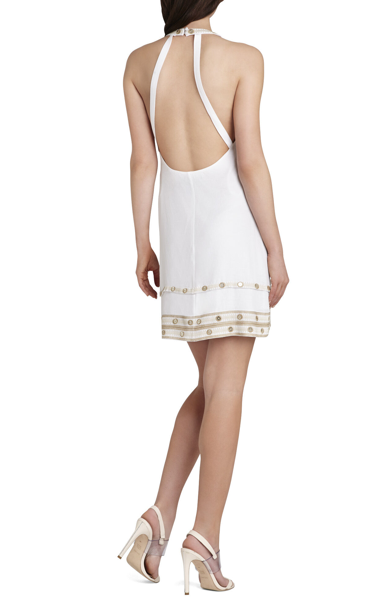 Irena Embellished Halter Dress