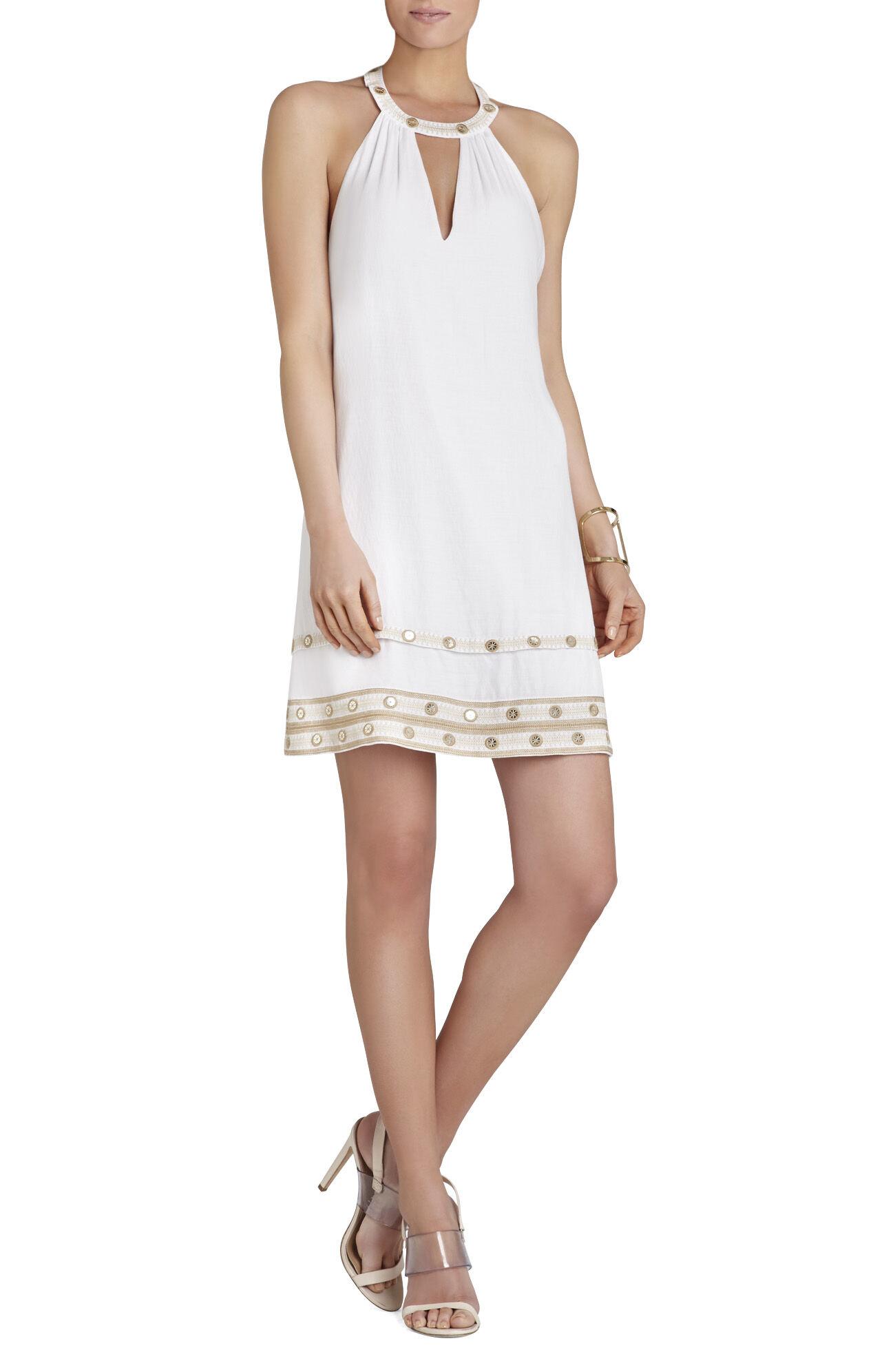 Irena Embellished Halter Dress