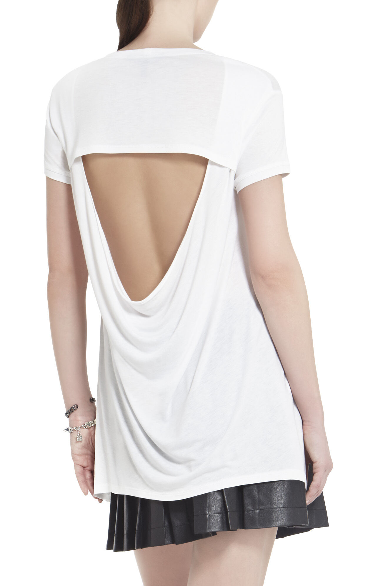 Mya Open-Back Draped T-Shirt