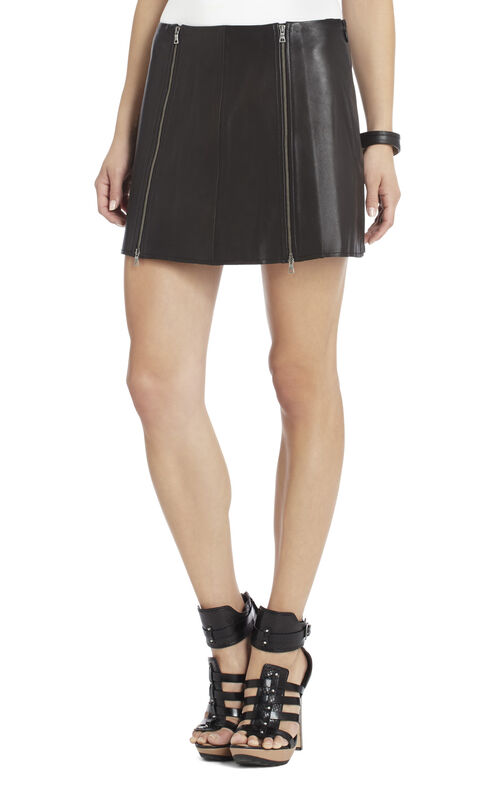 Myra Faux-Leather Miniskirt