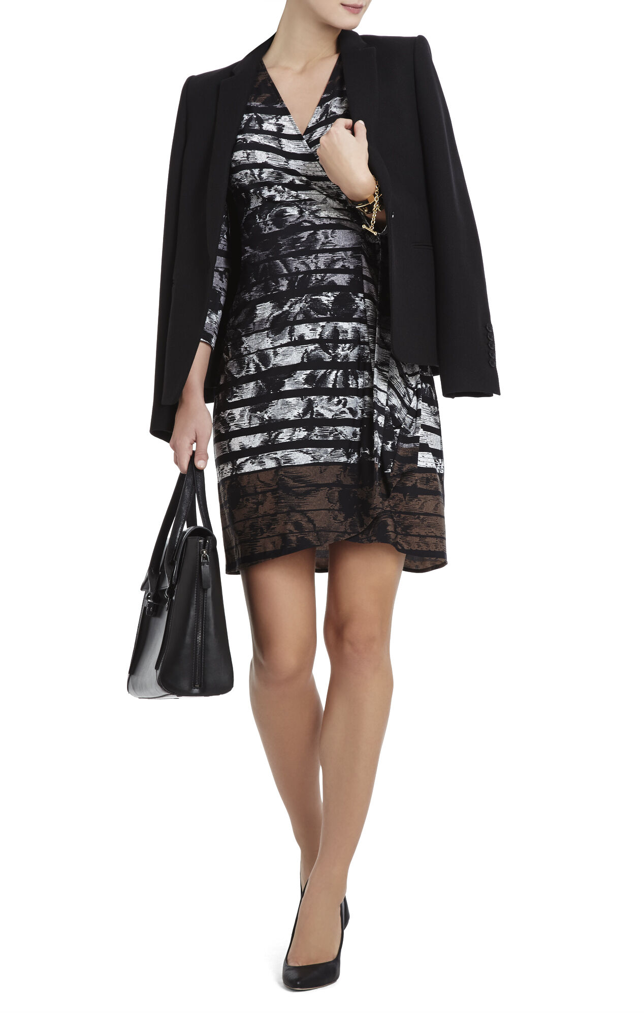 Adele Printed Wrap Dress