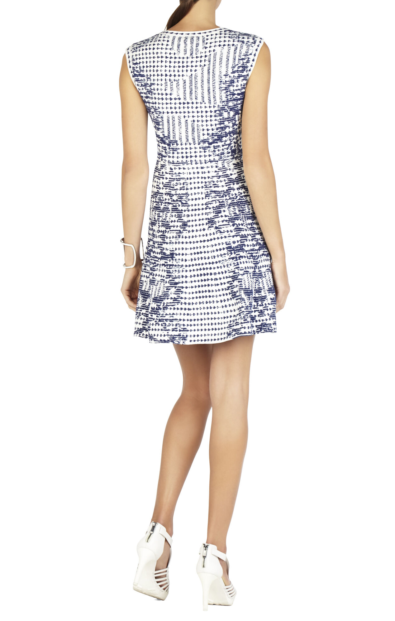 Melina Ikat Flounced-Hem Dress