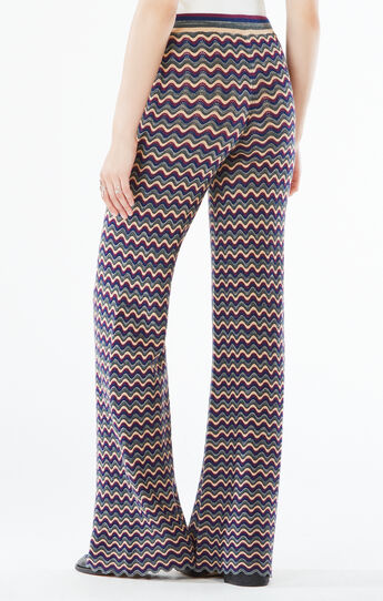 Omar Pointelle Wide-Leg Pant