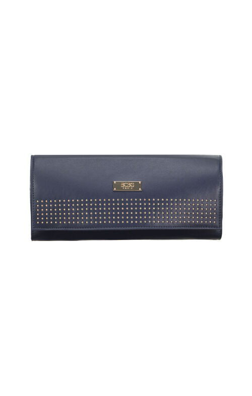 BCBG Paris Faux-Leather Studded Clutch
