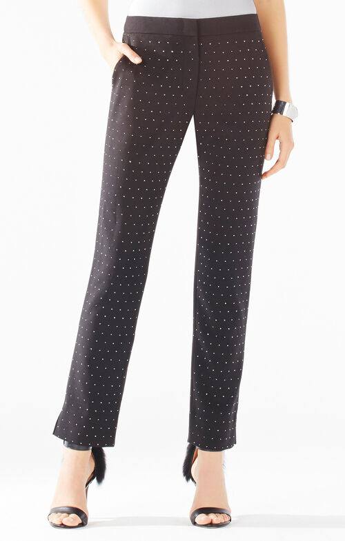 Tarik Stud Applique Trousers