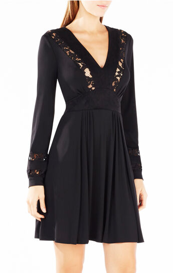 Indra Lace-Blocked Dress