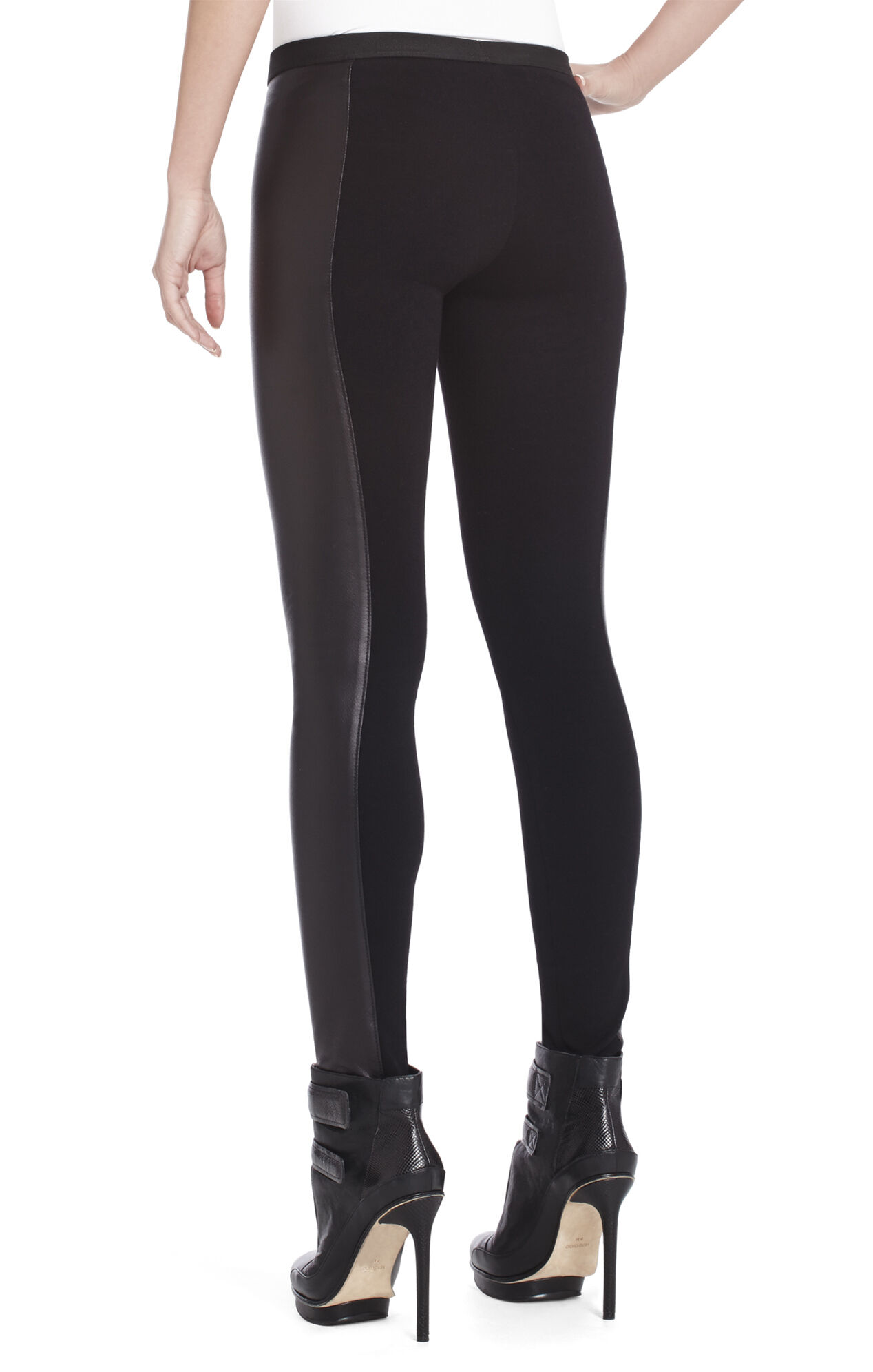 Shelby Stretch-Contrast Pleather Legging