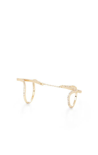 Pave Stone Double Ring