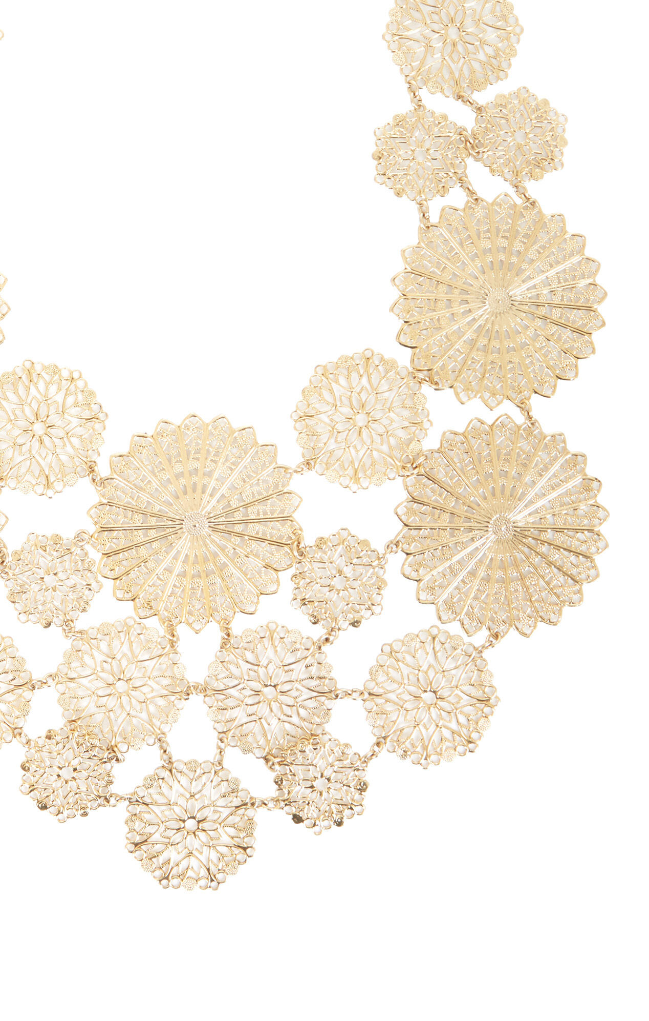 Filigree Disc Statement Necklace