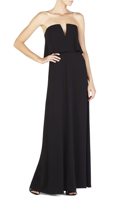 Alyse Strapless Overlay Gown