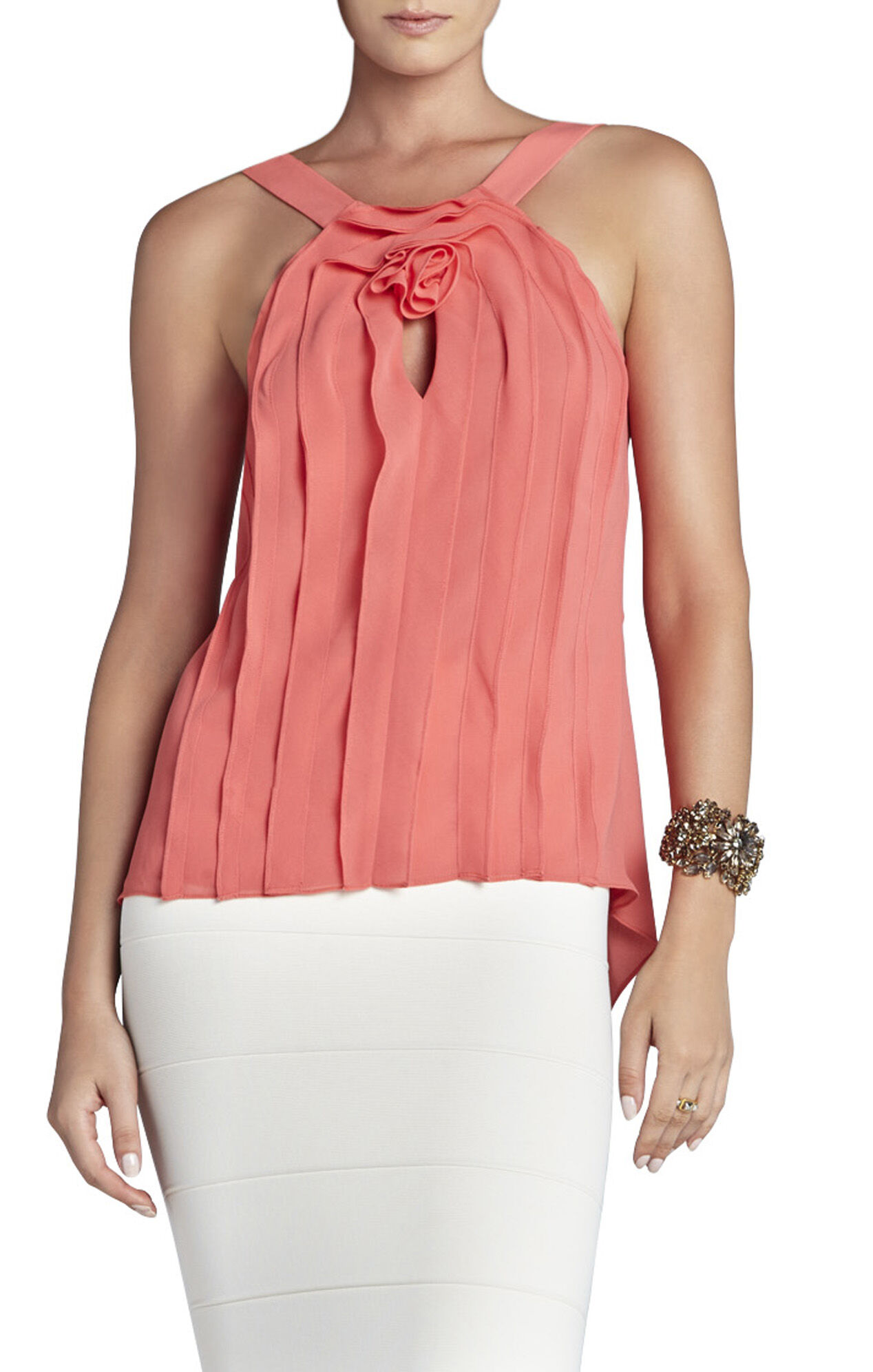 Malena Ruffle Sleeveless Top