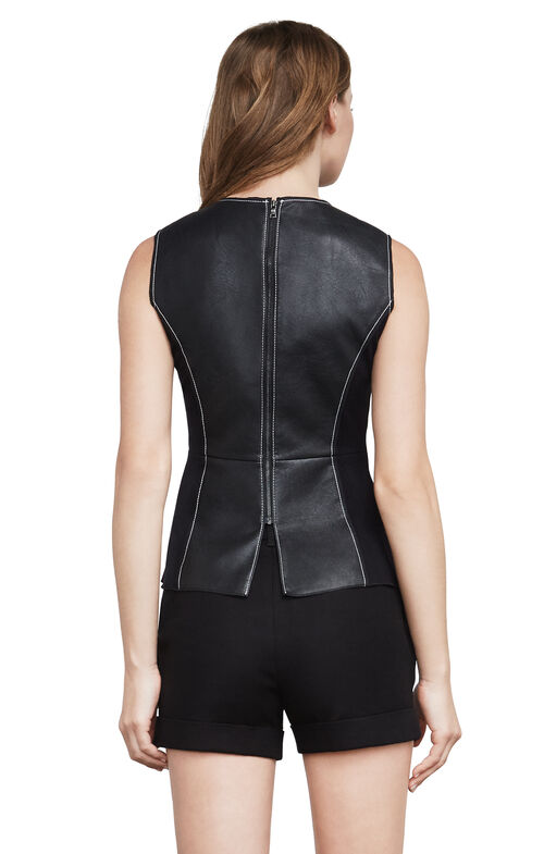 Kya Faux-Leather Top