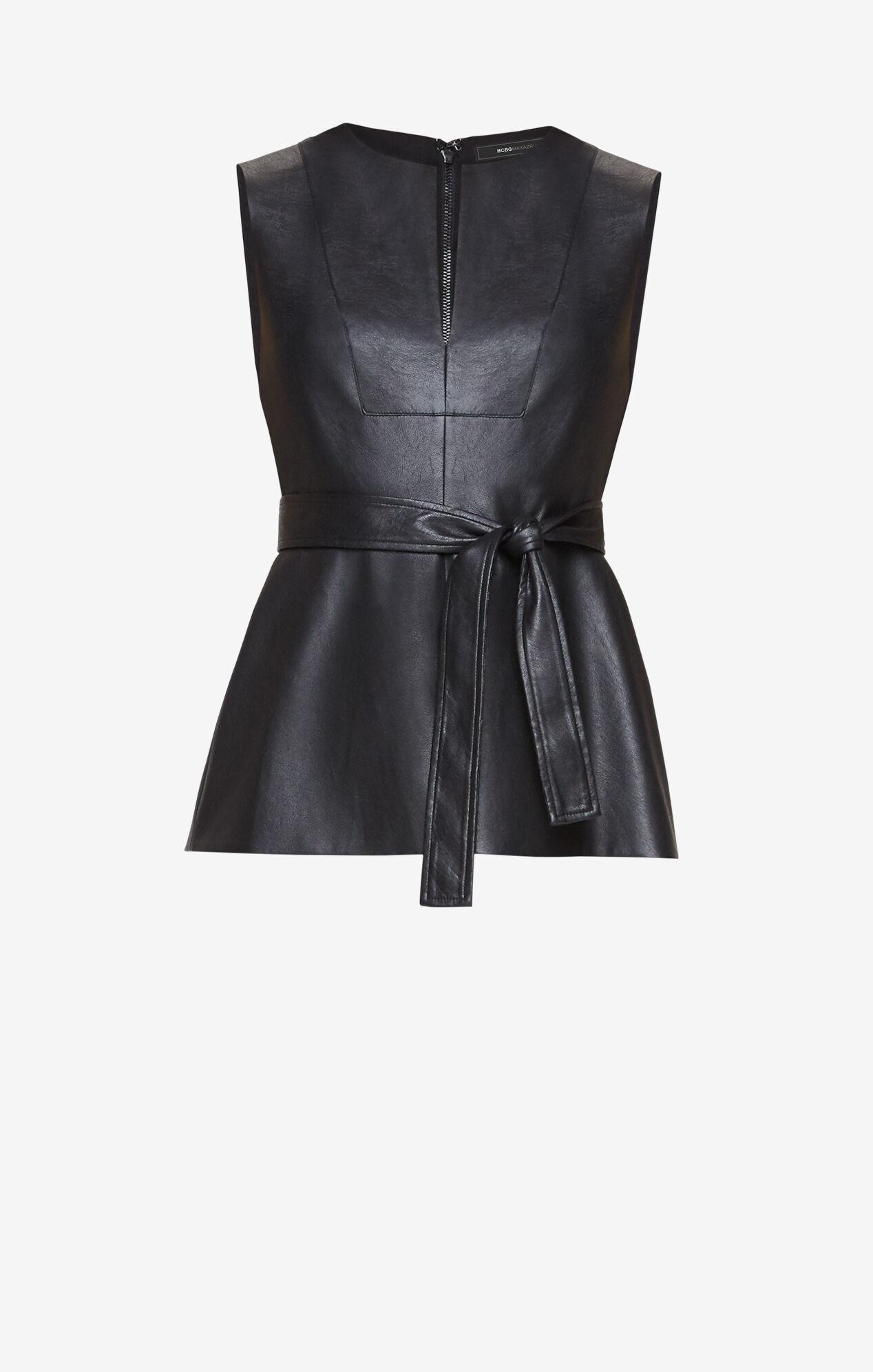 Joslynn Faux-Leather Top