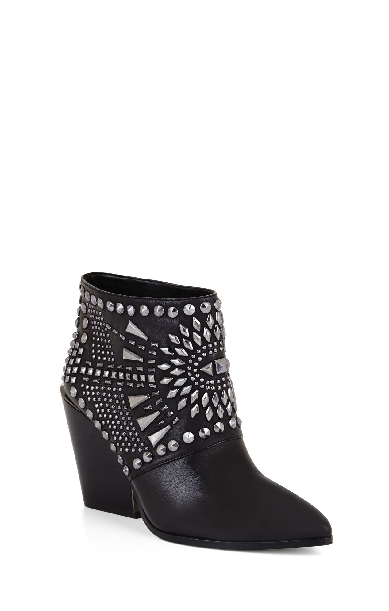 Creed Geometric-Studded Bootie