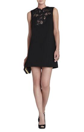 Valentine Lace-Applique Sleeveless Dress