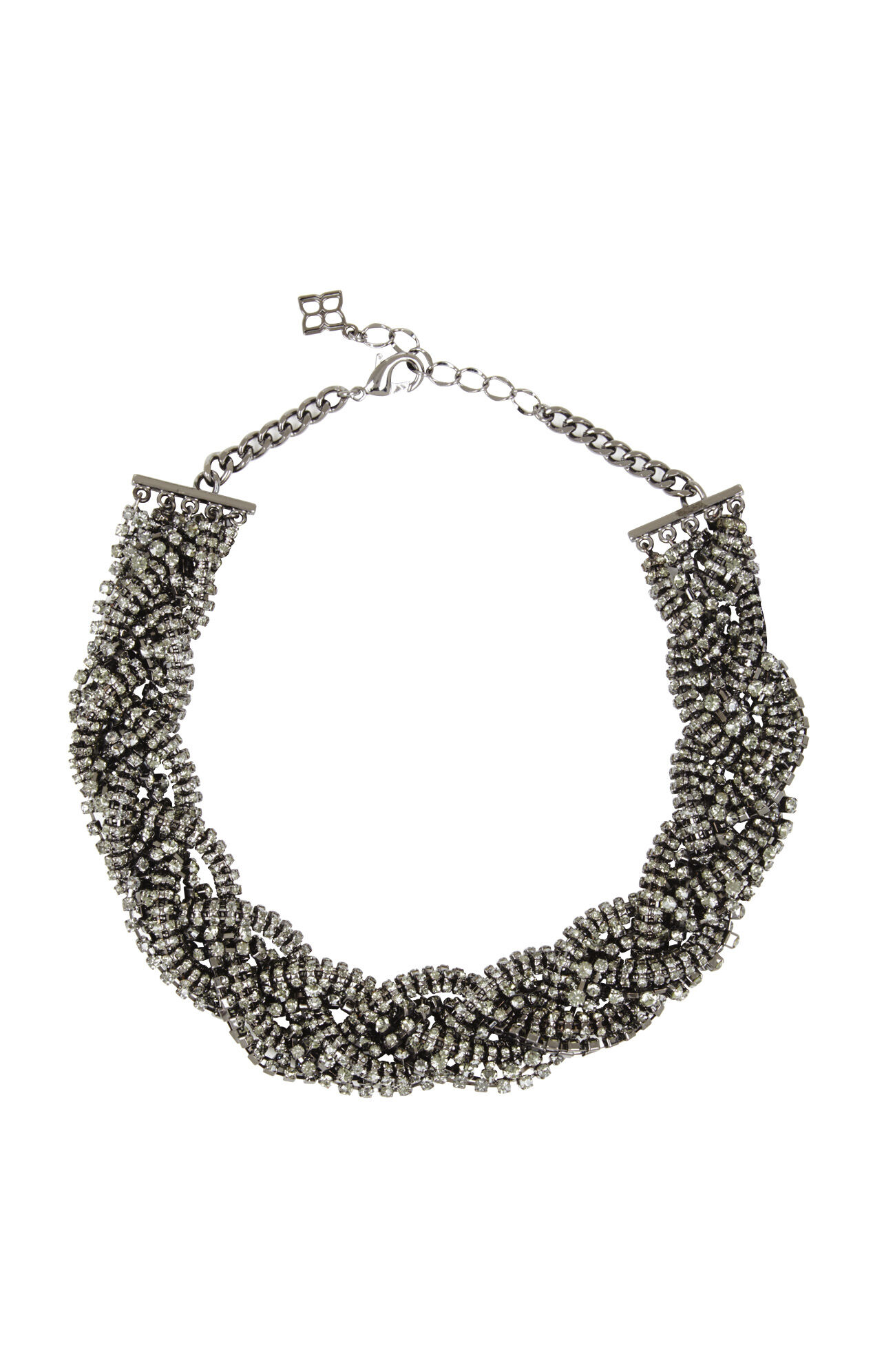 Braided Pave Necklace