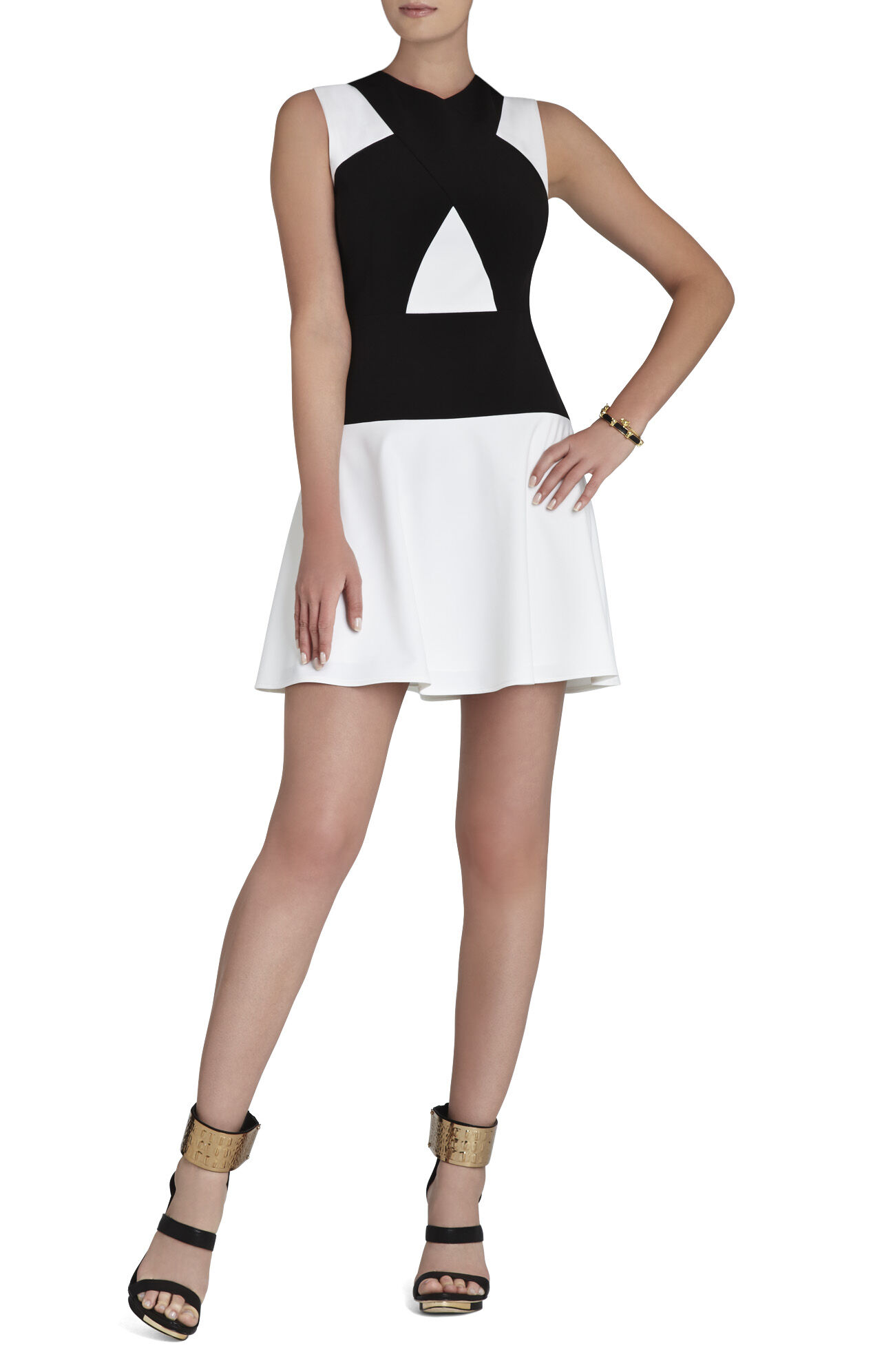Aloissa Color-Blocked Ponte Dress
