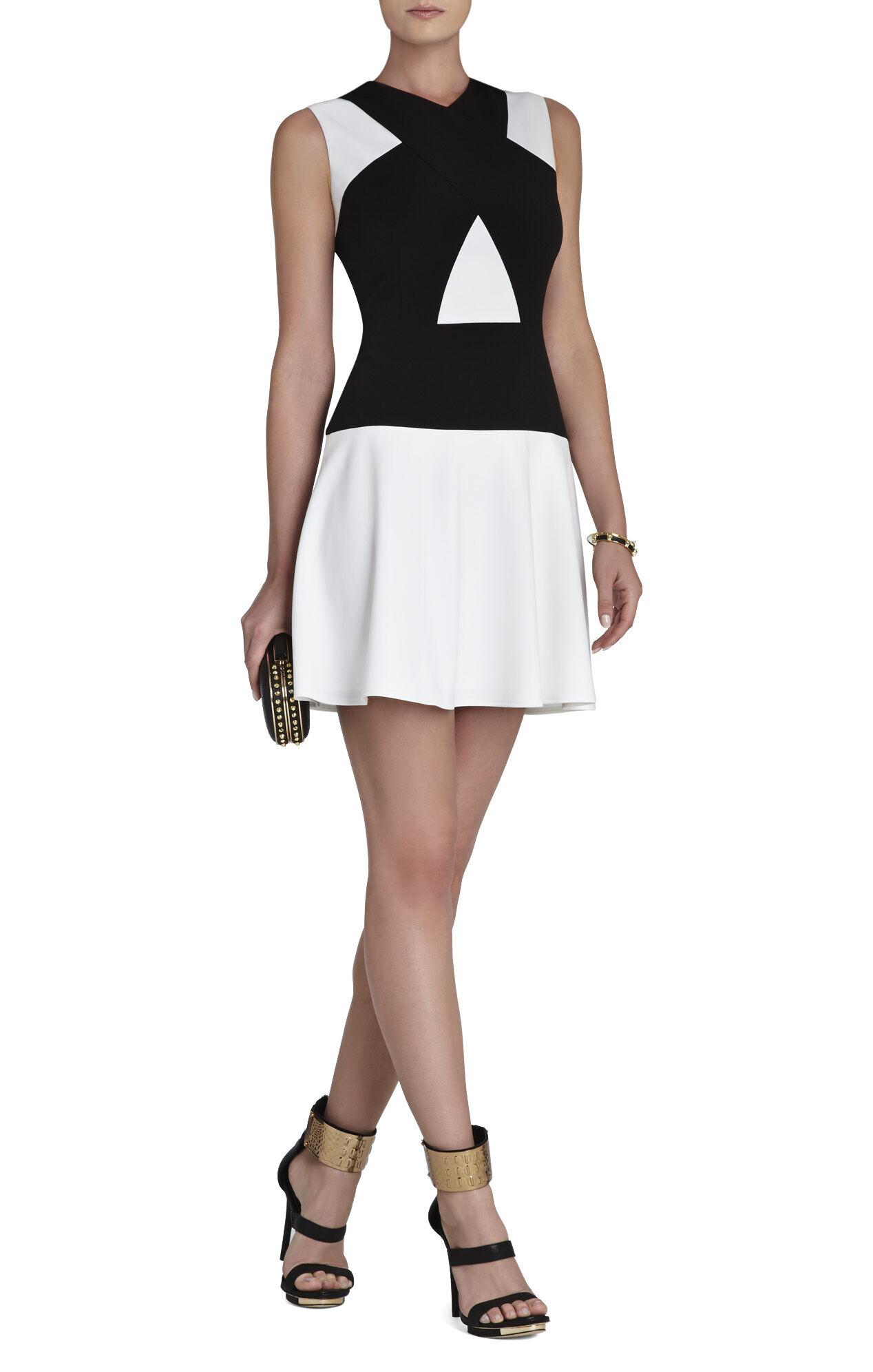 Aloissa Color-Blocked Ponte Dress