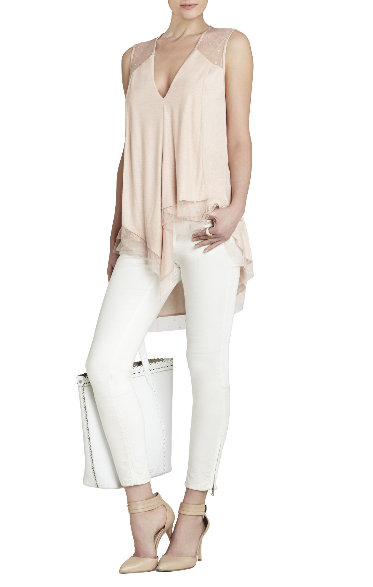 Brooke Sleeveless Draped Top