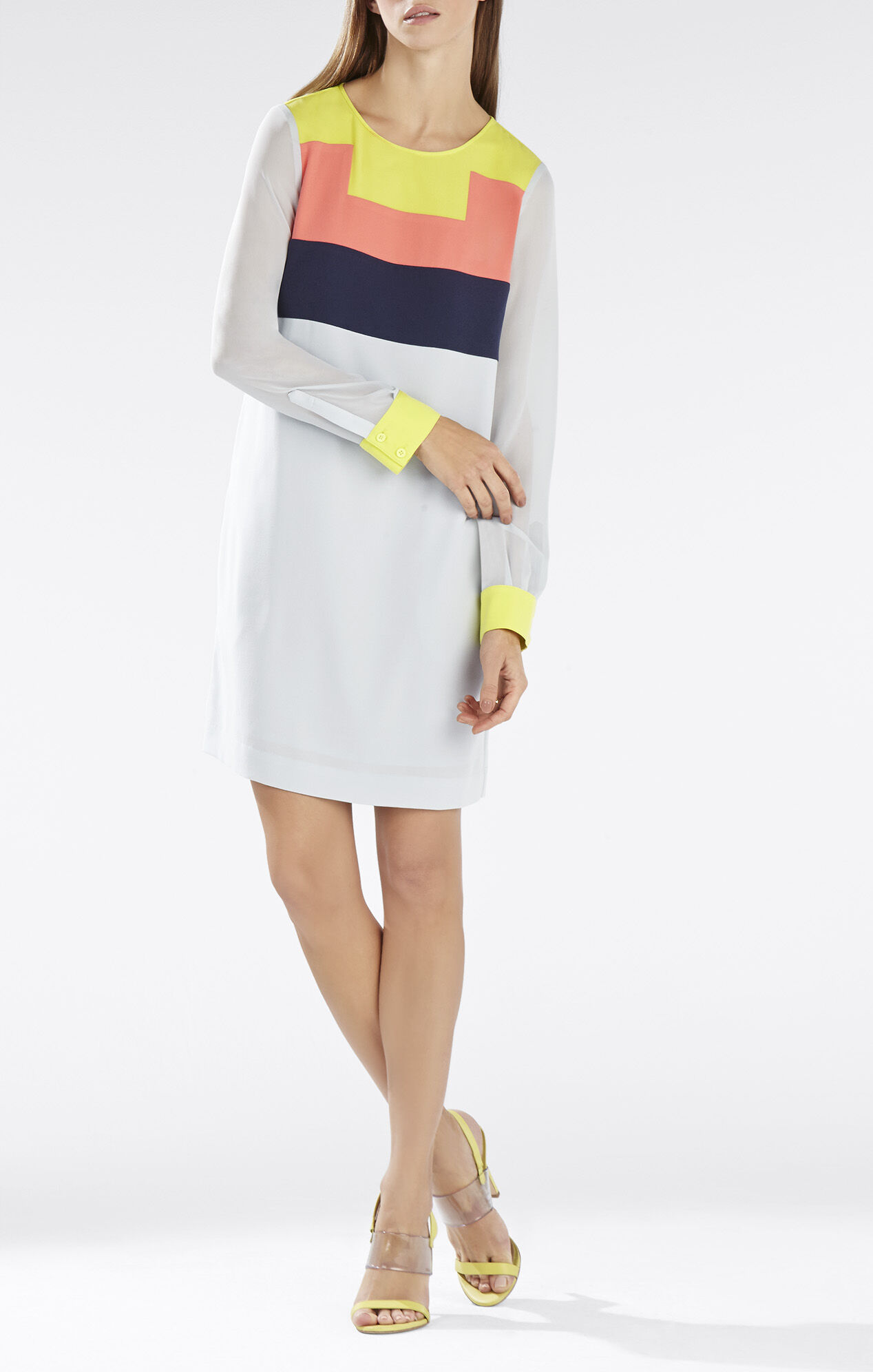 Cally Color-Blocked Tunic Dress