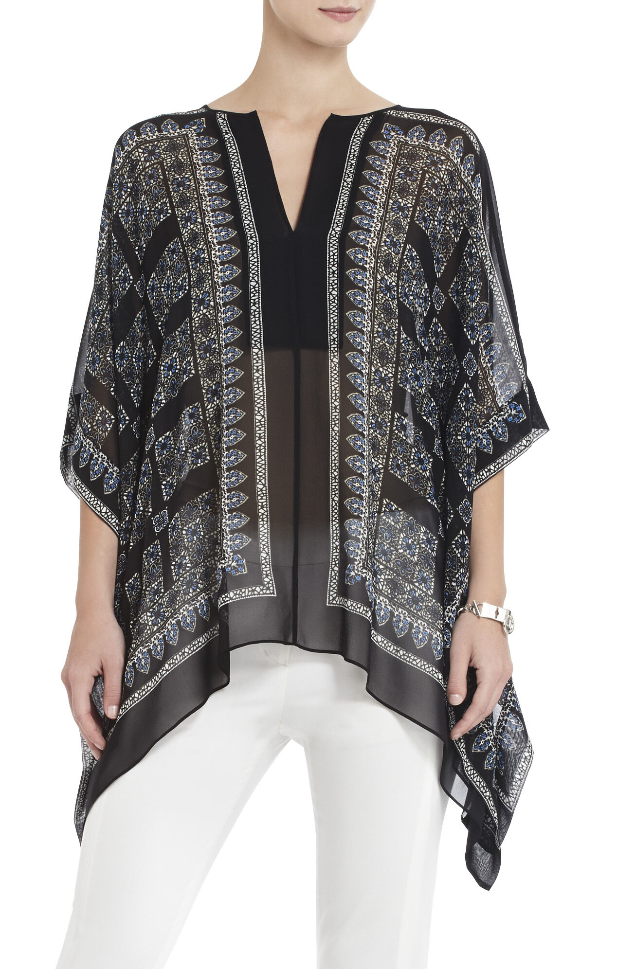 Dove Printed Handkerchief-Hem Top