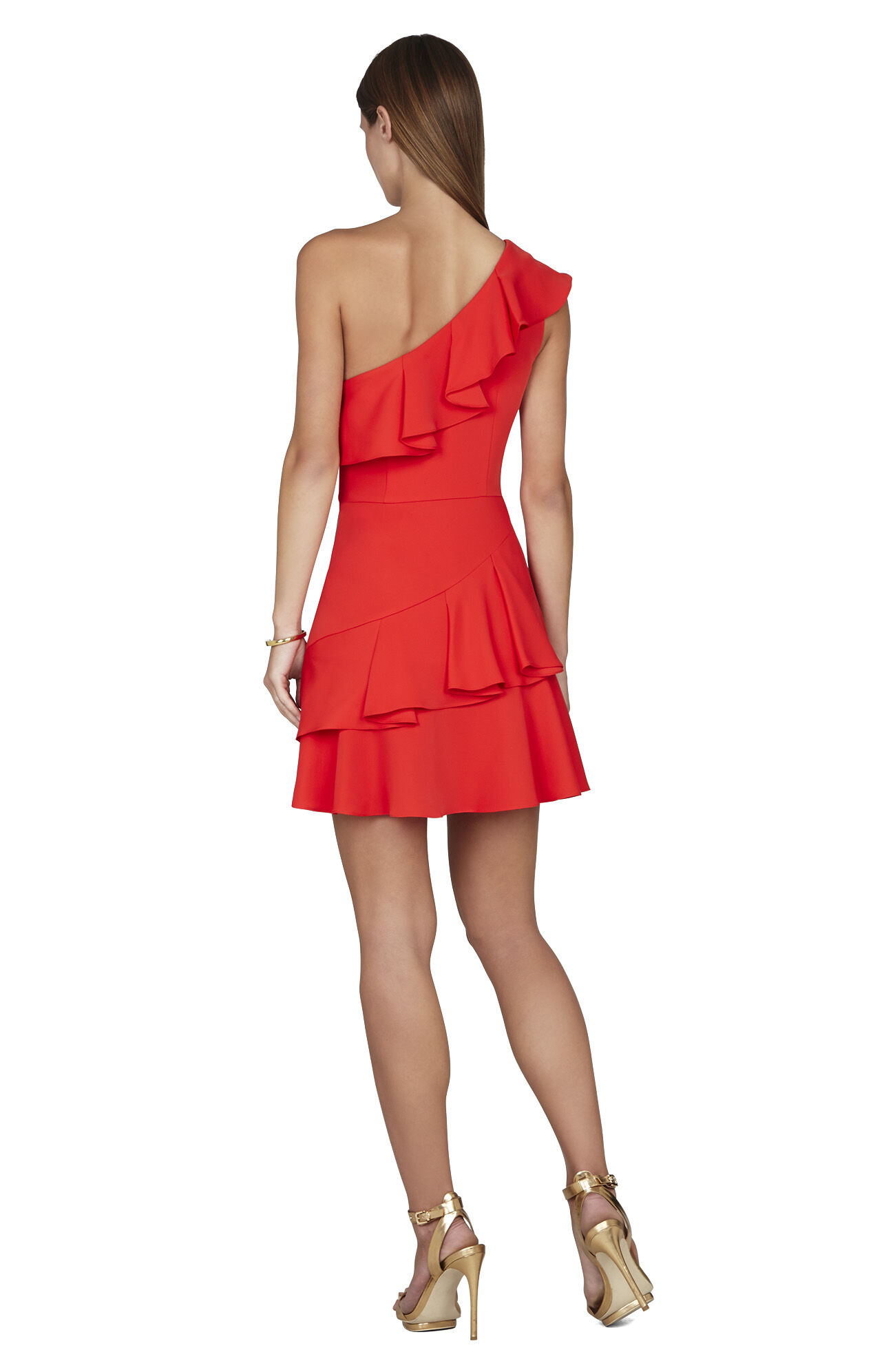Calinda One-Shoulder Ruffle Dress