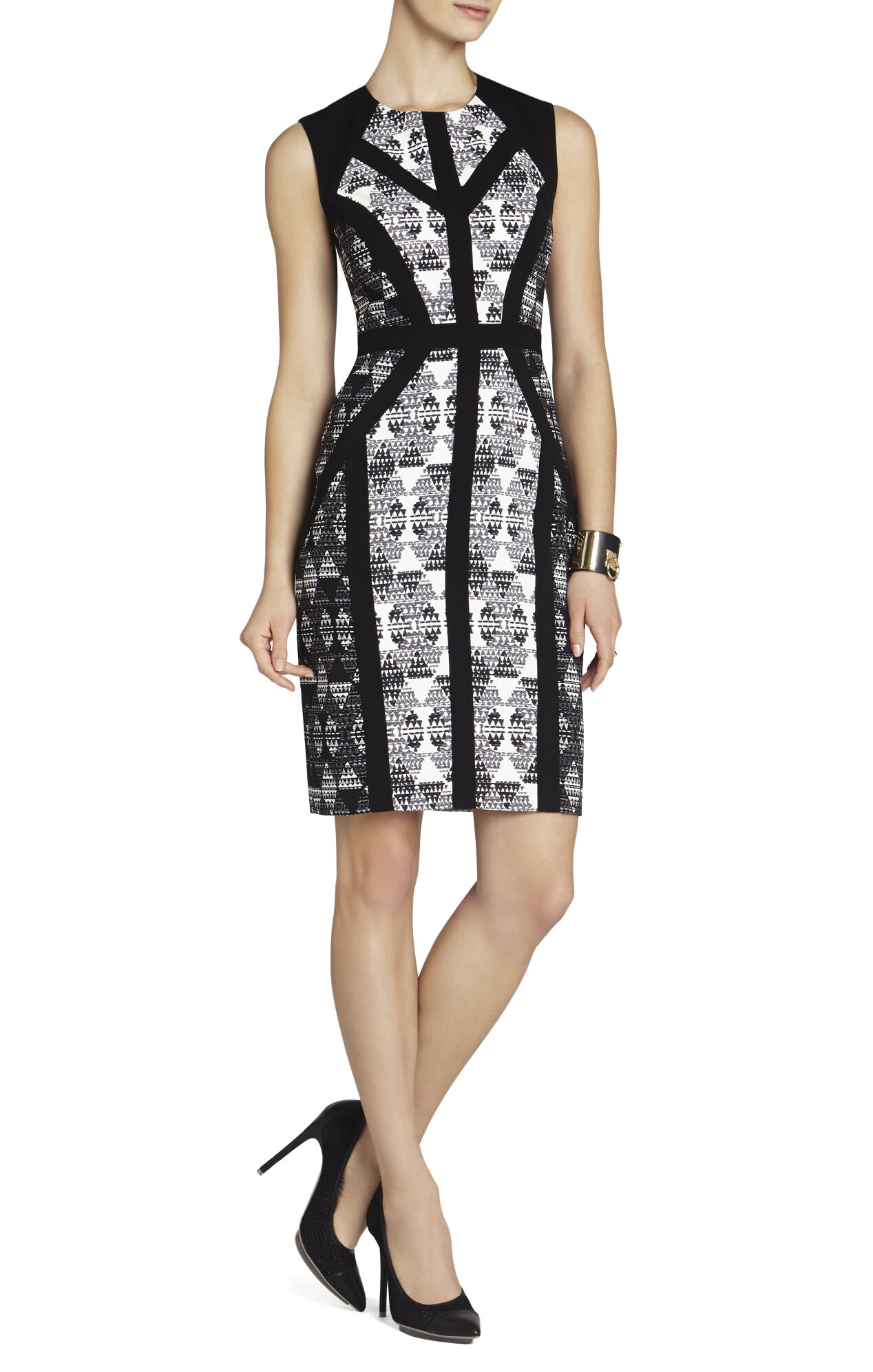Holly Blocked Sleeveless Sheath Dress