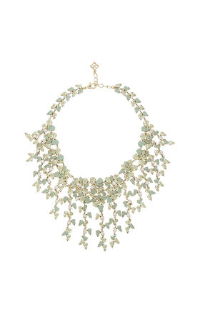 Drape Leaf-Stone Necklace