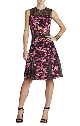 Agnese Printed Lace Dress