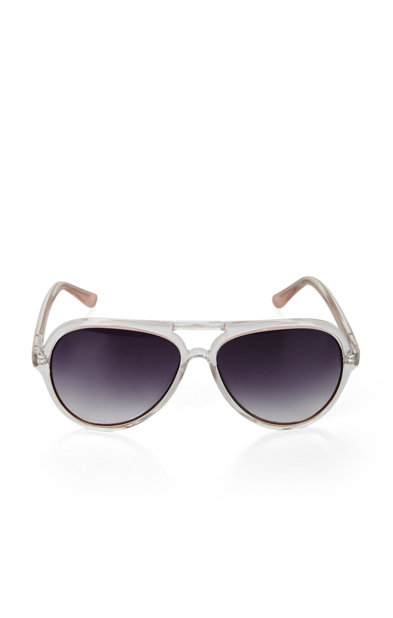 Clear Aviator Sunglasses