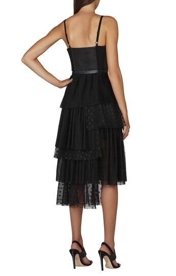 Casandra Sleeveless Faux-Leather Bustier Dress