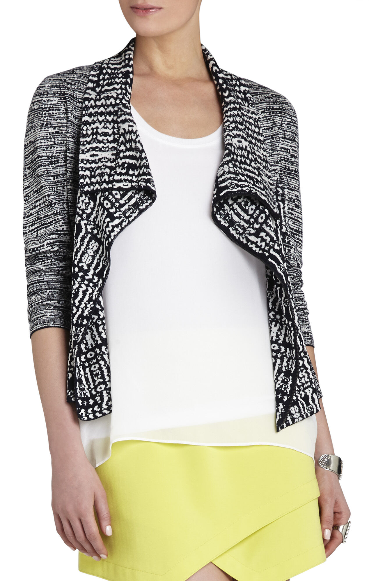Eva Jacquard Moto Jacket