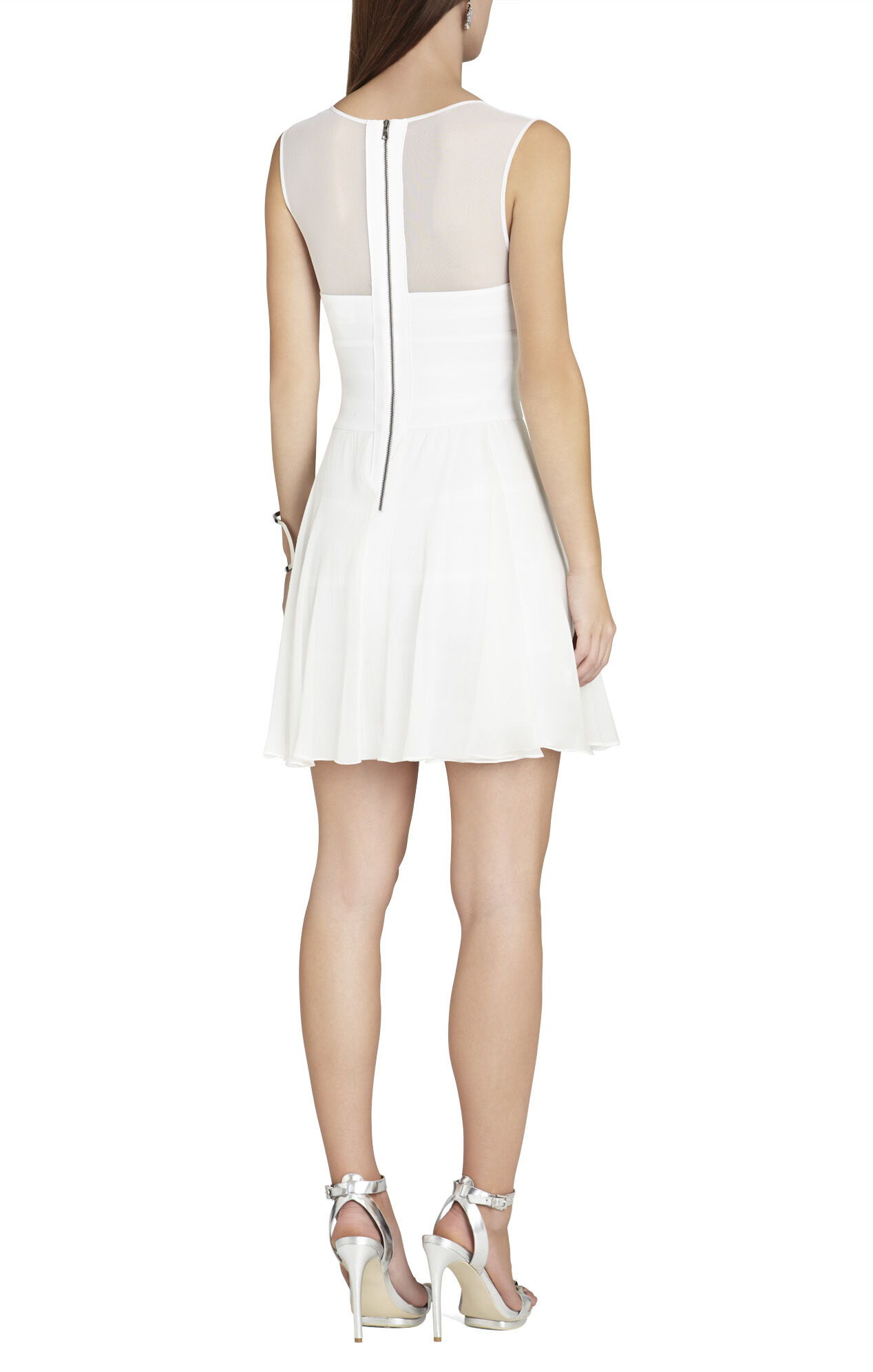 Miranda Sleeveless Ponte and Silk Dress