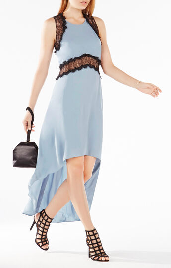 Agnella Lace-Trim High-Low Dress