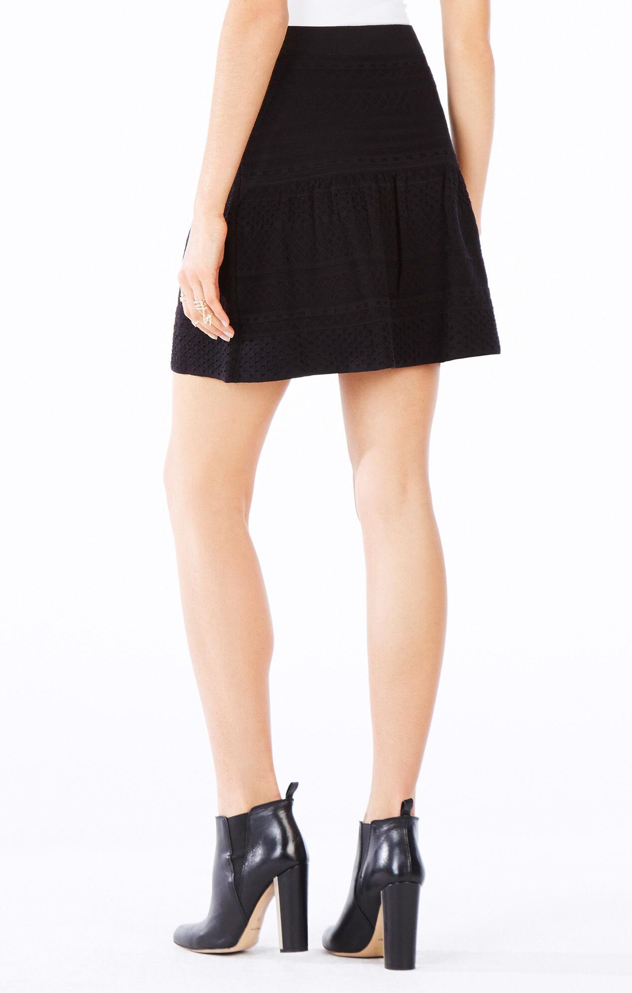 Anea Pointelle Peplum Skirt