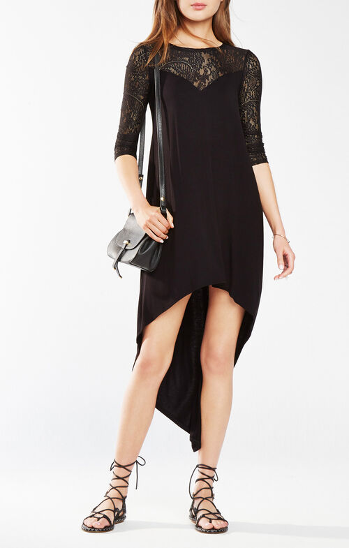 Danyelle Lace Asymmetrical Dress
