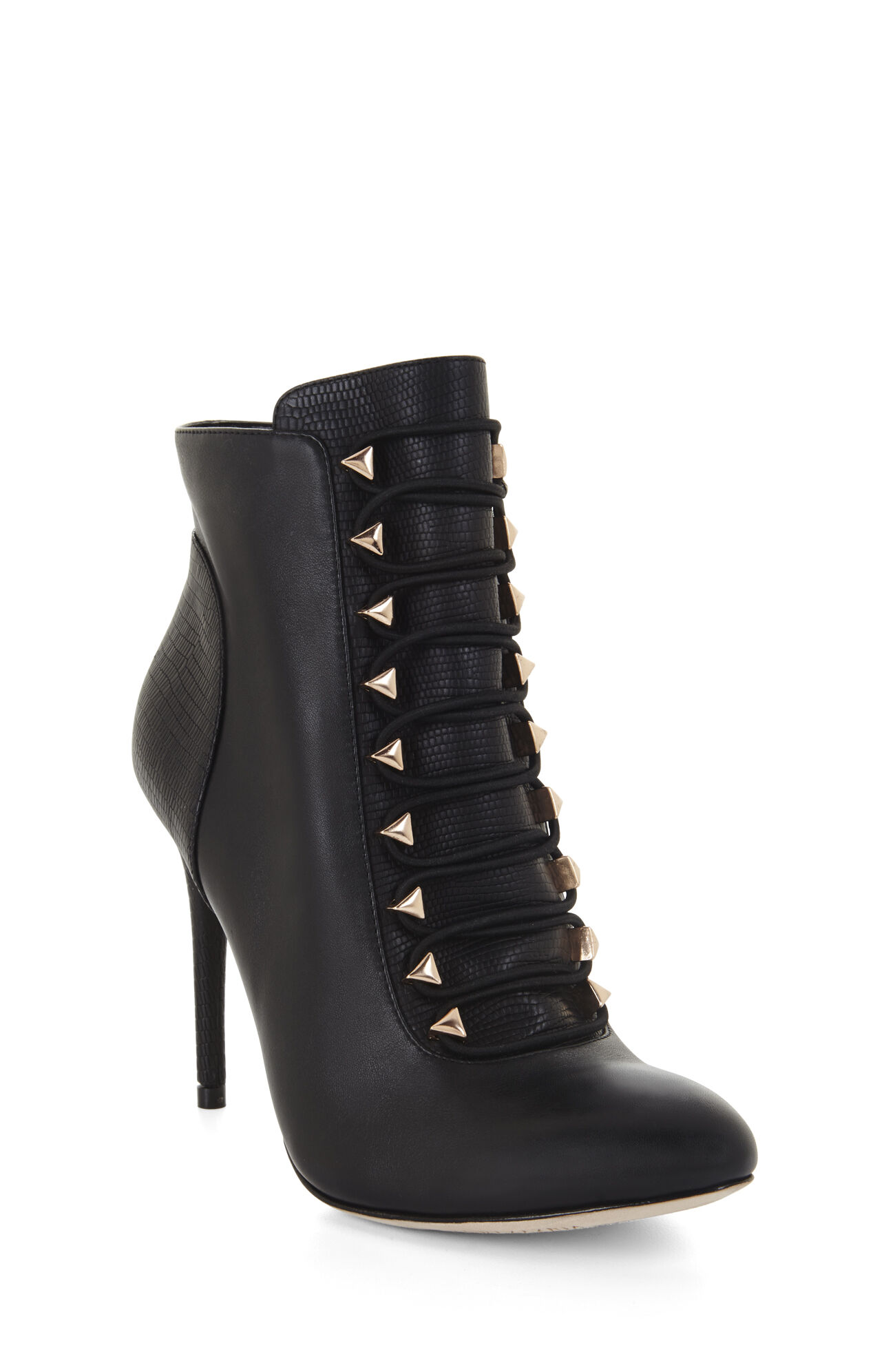 Bari Exotic Combo Lace-Up Day Bootie