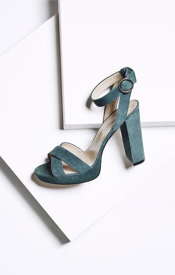 Lea High-Heel Suede Platform Sandal