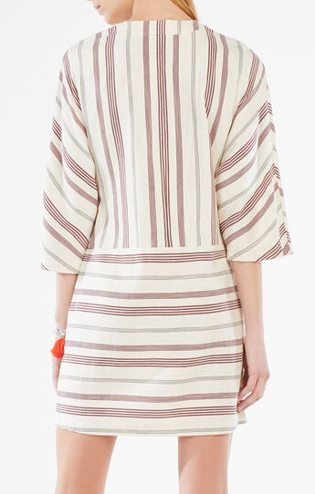 Milana Striped Lace-Up Tunic Dress