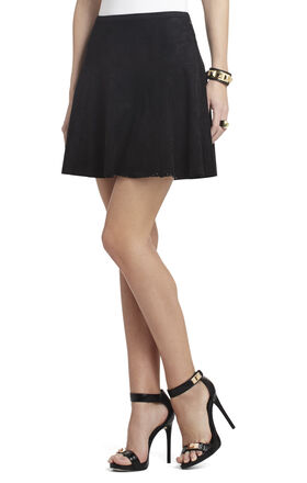 Lucy Perforated A-Line Skirt