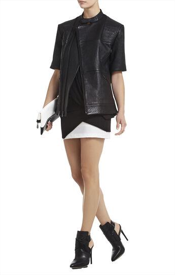 Charnet Short-Sleeve Leather Jacket