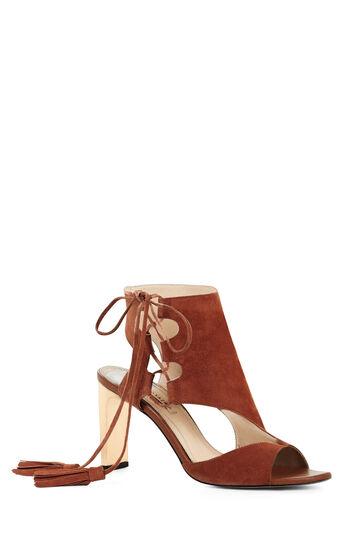 Juana High-Heel Suede Sandal