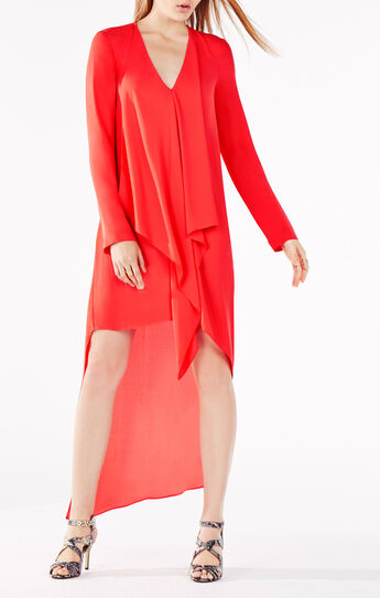 Kyndal Ruffle High-Low Dress