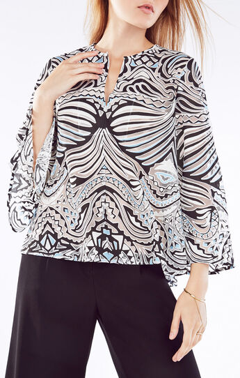 Debi Burnout Mesh Top