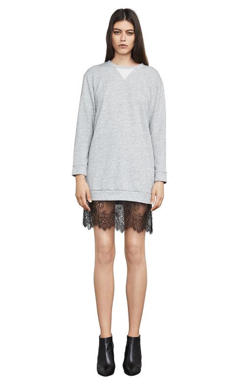Whitnie Lace-Trim Sweatshirt Dress