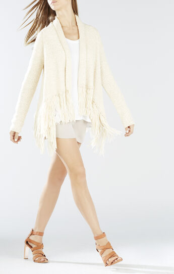 Morgan Fringe Wrap Cardigan