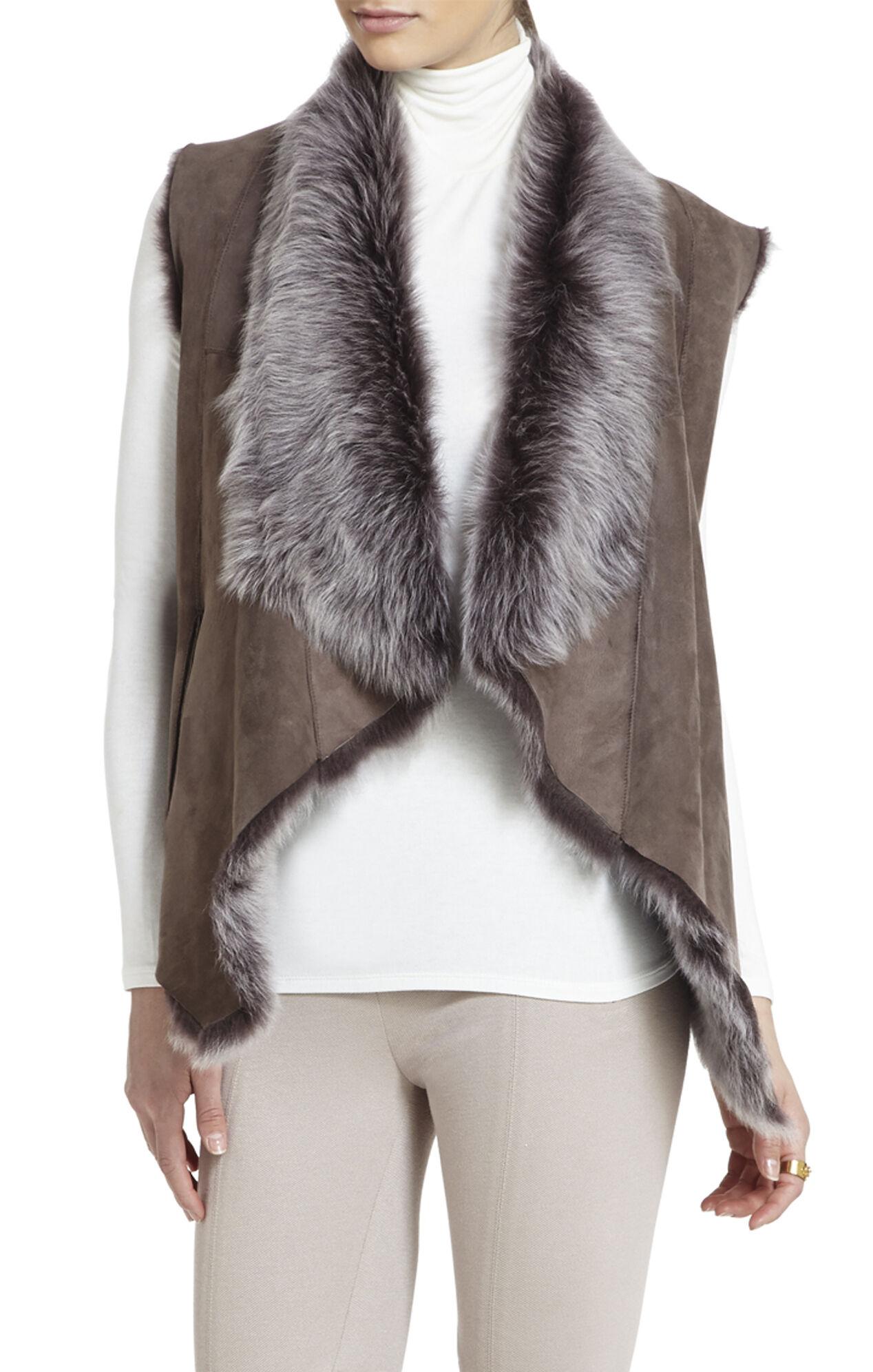 Sierra Shearling Reversible Vest