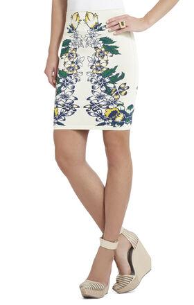 Caimbrie Floral Jacquard Skirt